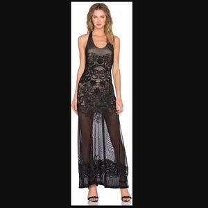 NWT SKY Rufino crochet racerback maxi dress-S